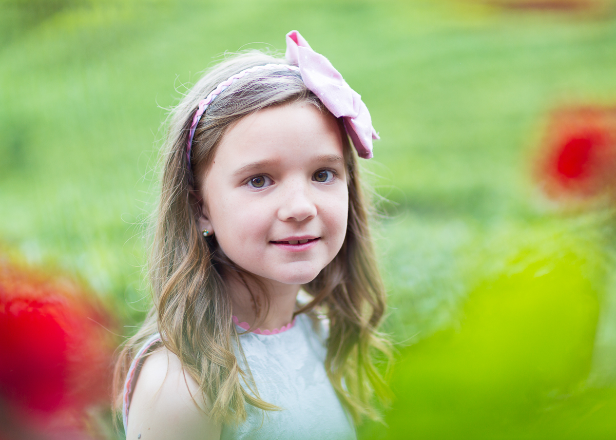 Foto comunion niña en jardin alzira valencia