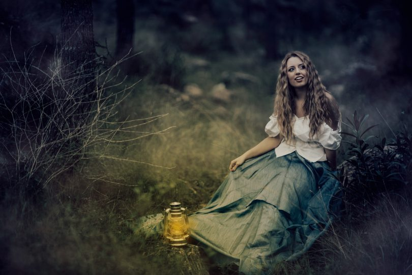 foto chica bosque fantasia girl forest photography